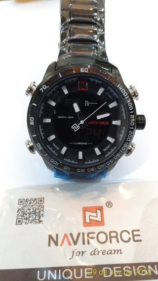 Kit 03 Relógios Masculino Naviforce Militar Esportivo