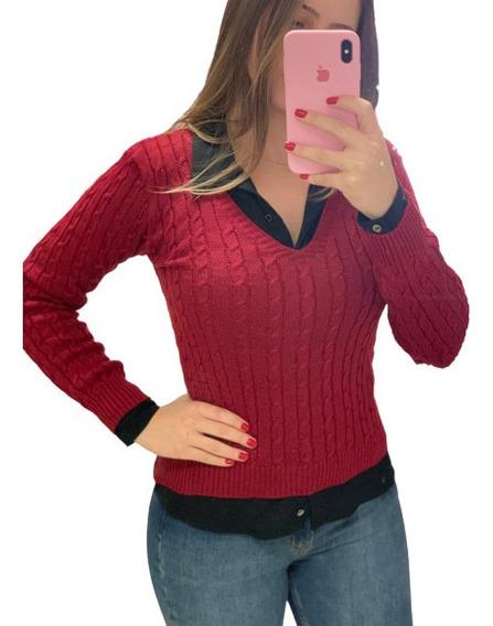 Blusa De Tricot Trançada Roupa Feminina Inverno Atacado