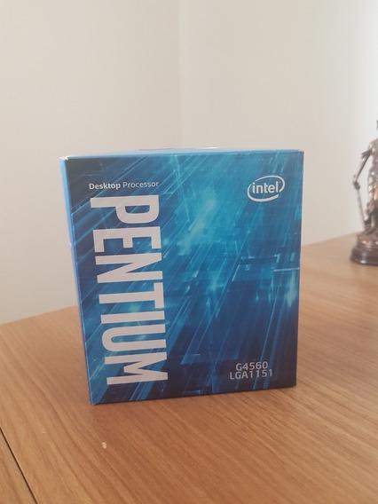 Processador Intel Pentium G4560 Usado Na Caixa Com Nota - Sem Cooler Box
