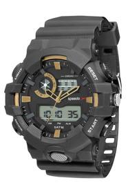 Relógio Masculino Speedo Anadigi 81156g0evnp1 Preto
