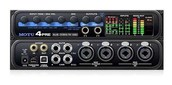 Interface De Audio Profissional Motu 4pre Usb Firewire