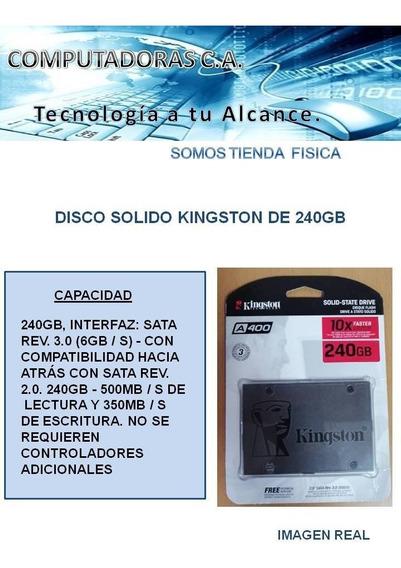 Disco Duro Solido Kingston De 240gb