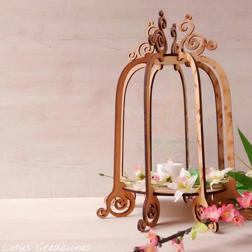 Jaula Decorativa Grande 30cm -corte Láser-