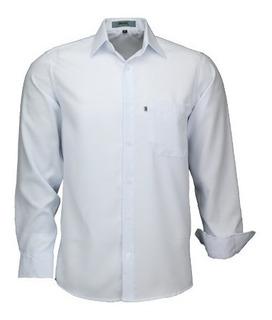 Camisa Amil Branca Garçom Microleve Não Amassa Longa Manga