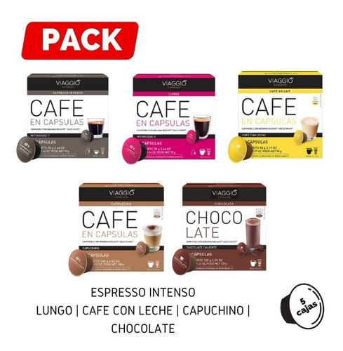 Pack 5 Cajas Café Viaggio Espresso Para Dolce Gusto
