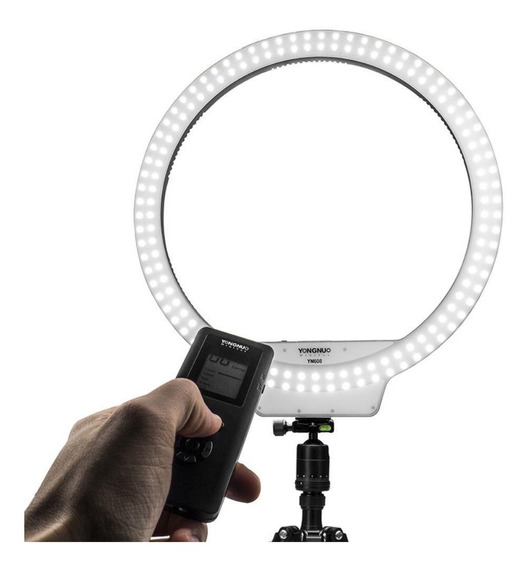 Iluminador De Led Ring Light Yongnuo Yn-608 + Fonte