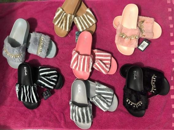 Sandalias Con Tercio Pelo