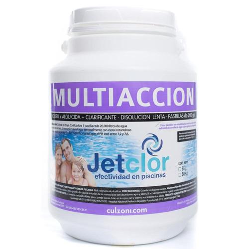 Imagen 1 de 1 de Pastillas De Cloro Multiaccion Jetclor 200 Grs Por 5 Kilos