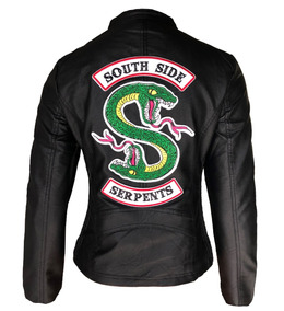 Jaqueta De Couro South Side Serpents Riverdale Bordada