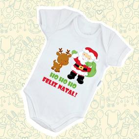 Body Feliz Natal Bebe Infantil Macaquinho Presente Fofo