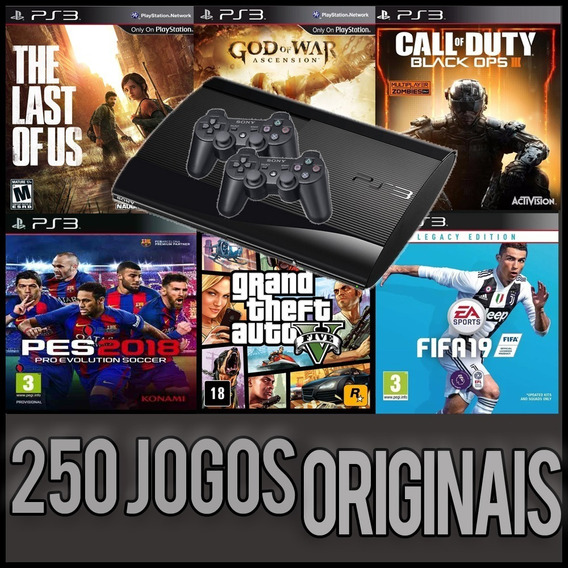 Playstation 3 - 250 Jogos Originais - Ps3 Hd 1tb 2 Controles