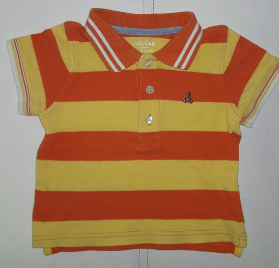 Remera Pique Baby Gap Cuello Polo Talle 12 A 18 Meses
