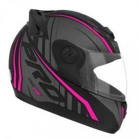 Capacete Moto Feminino Pro Tork 788 Preto Fosco Rosa
