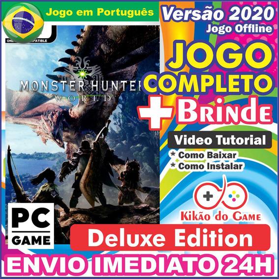 Monster Hunter: World Deluxe Edition Pc Digital/br + Brinde