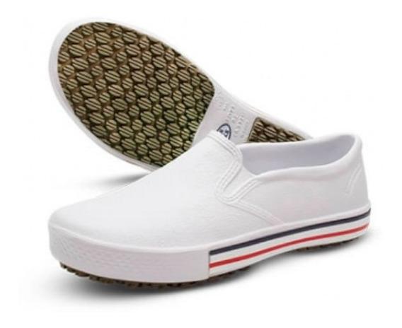 Sapato Profissional Hospitalar Epi Branco Sola Baixa Confort