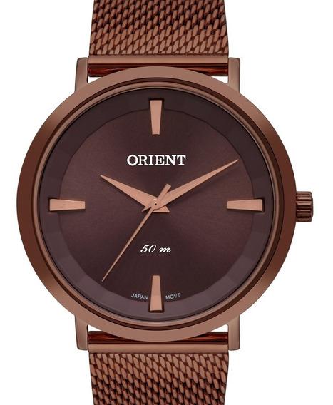 Relógio Orient Feminino Chocolate - Fmss0005 N1nx