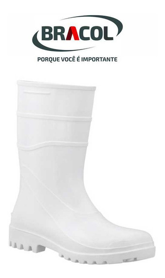 Bota De Pvc Cano Curto Branca Acqua Flex 82bpc600