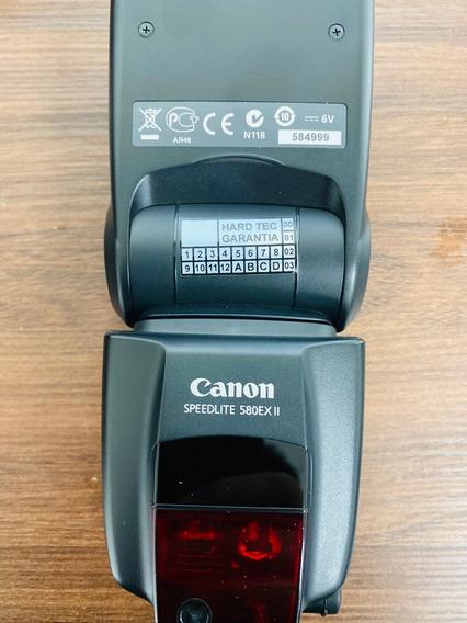 Flash Original Canon 580 Ex Ii Com Estojo Original