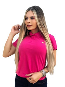 Camiseta Camisa Polo Feminina Mulher Manga Curta Blogueira