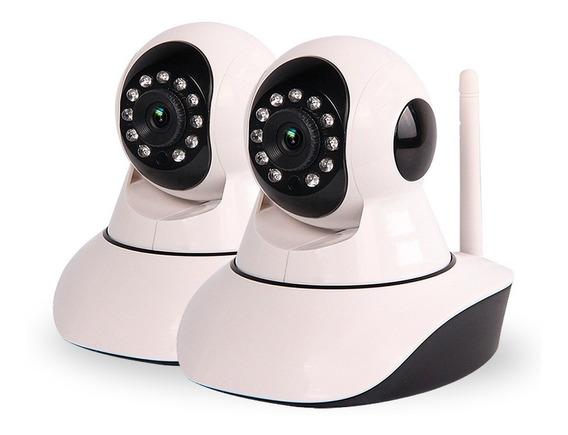 Kit 2 Camaras Seguridad Ip Motorizado Wifi Vision Nocturna