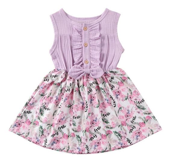 Vestido Para Bebé Y Niña Estampado Floral Primavera Verano