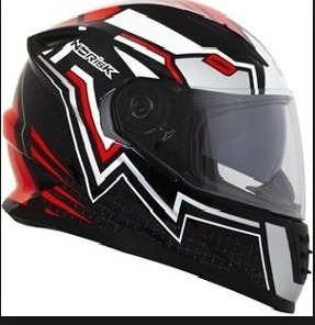 Capacete Norisk Ff302 Wizard Black/red/silver/white