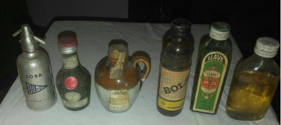Lote Miniatura Botellas Vinos Sifon Whiski Coleccion