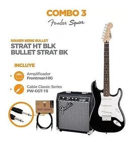 Kit Combo De Guitarra Electrica Fender + Amplificador Nuevos