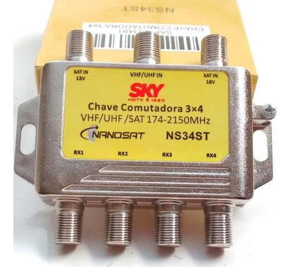 Chave Comutadora Sky 3x4.