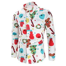 Botão Impressão Tema Natal Acima Camisa