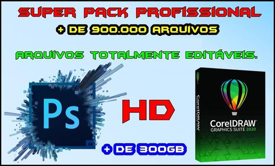 Super Pack Editável Em Corel E Photoshop + De 300gb