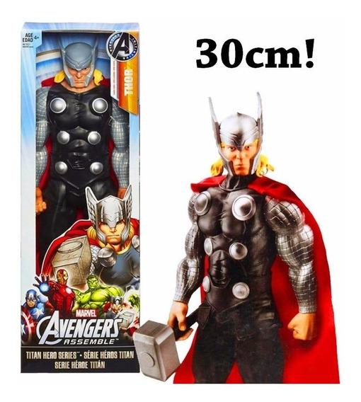 Boneco Presente Thor Gigante Articulado Grande 30cm Marvel