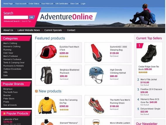 Mega Loja Virtual E-commerce Site Vendas Online Template
