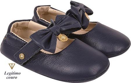 Sapato Boneca Menina Infantil Laço Em Couro
