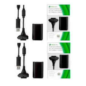 Kit 2 Baterias Carregador Controle Xbox 360 Slim1 2.000mah