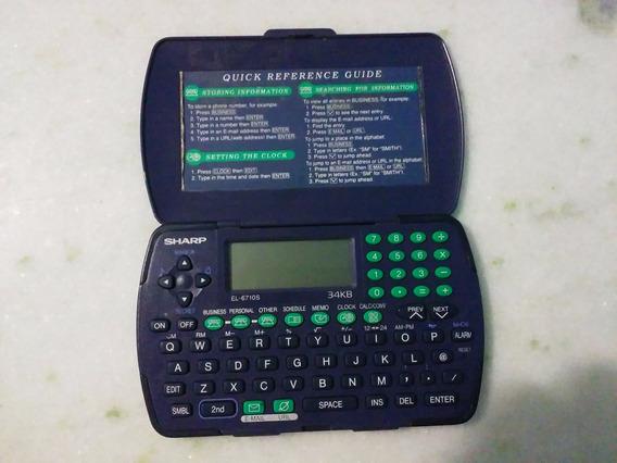 Agenda Eletrônica Calculadora Sharp El-6710s