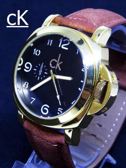 Relogio Ck Johnnie Walker Serie Ouro Couro Top Original C121