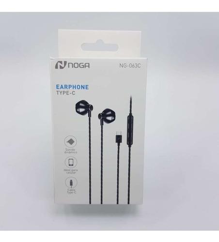 Auricular Noga Ng-063c In Ear Usb Tipo C