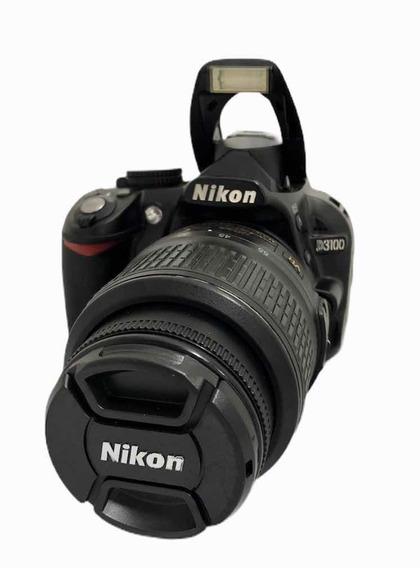 Câmera Nikon D3100 14,400 Cliques Seminova + Lente + Alça