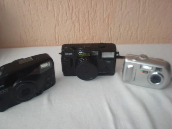 Cameras Antigas Kodak, Canon No Estado Leia Descrição Anúnci