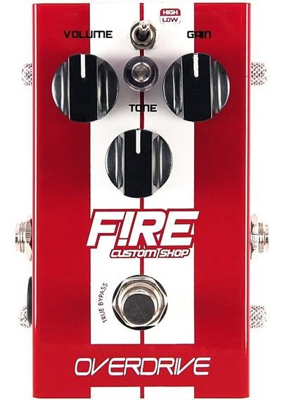 Pedal Fire Overdrive Guitarra True Bypass - 5 Anos Garantia
