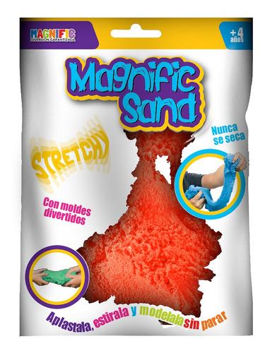 Imagen 1 de 7 de Arena Kinetica Magica Magnific Sand Rojo Con Moldes