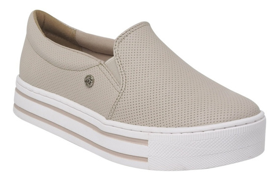 Tenis Via Marte Slip On Marfim - 19-12573