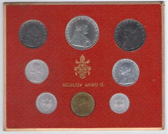 Vaticano Mint Set Monedas Año 1964 Papa Pablo Vi
