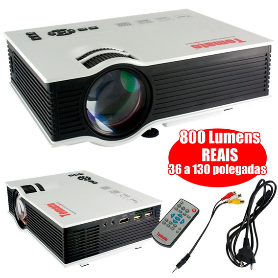 Mini Projetor Tomate Mpr-6006 800 Lumen Áudio Vídeo Ps4 Xbox
