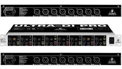 Direct Box Ativo Behringer Ultra Di Pro800 8 Canais.