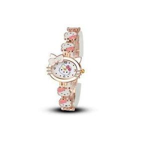 Relógio De Pulso Hello Kitty Cristal Moda Infantil Mulheres