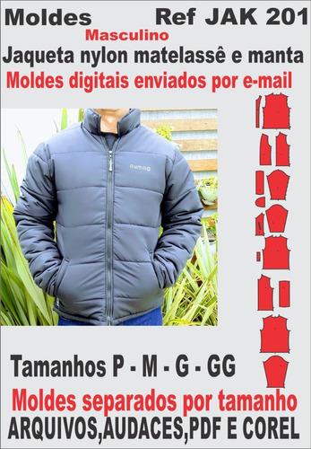 Moldes De Jaqueta Nylon Com Matelassê E Manta, Masculina