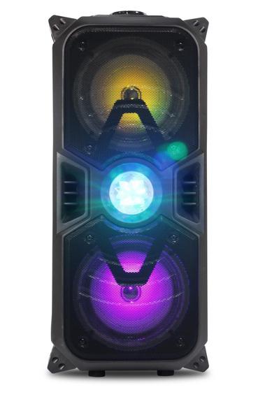 Caixa De Som Grande Amplificada Via Bluetooth Grave Karaoke
