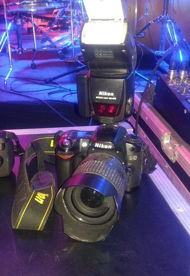 Câmera Dslr Nikon D80 Com Flash Externo E Lente 18-105mm